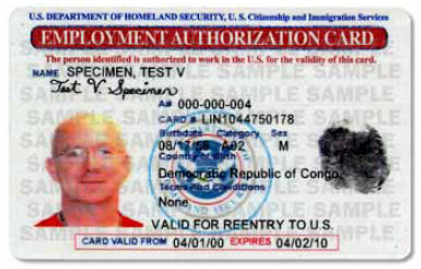 Ead Employment Authorization Document Work Permit Renew